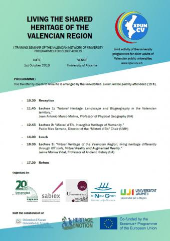 I TRAINING SEMINAR OF THE VALENCIAN NETWORK OF UNIVERSITY PROGRAMMES FOR OLDER ADULTS